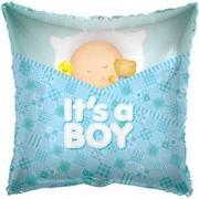 Its a Boy Pillow 18 inch foil item 033