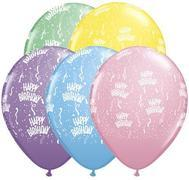 Birthday Pastel  Color 11 inch Latex   item 006