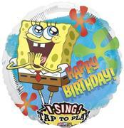 Singing Sponge B-day 28 inch foil item 046