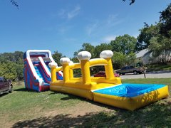 with yellow slip n slide