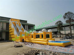 30ft slide/slip n slide/pool  65x16x30