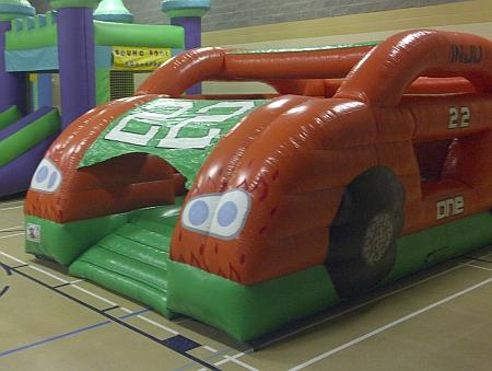 The Grand Prix bouncy castle is great for toddlers