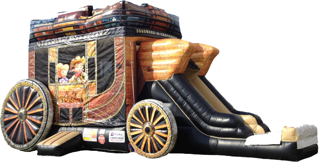 Western Stagecoach bouncy castle