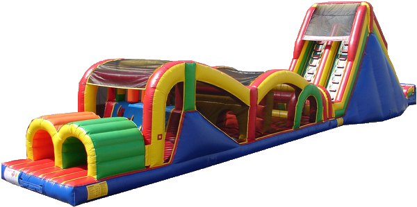 Extreme Rush Obstacle Course w/slide  77'