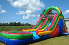 15' ROCK CLIMB DUAL LANE SLIDE W/ POOL