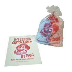 BT-CON-CCDEL - Cotton Candy Deluxe Package 1 Blue Floss, 1 Pink Floss, 100 Bags & Tape Dispenser.