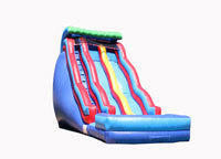 BT-WAT-DW34419 - 19' Tall x 14' W x 31' Long Double Wave Water Slide 13' Platform Height