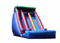 BT-WAT-DZ31419 - 20' Tall x 14' W x 35' Long Double Drop Zone Water Slide 13' Platform Height