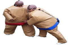 BT-SPO-SUM - 2 Sumo Suits & 2 Helmets & Mat $199 All Day