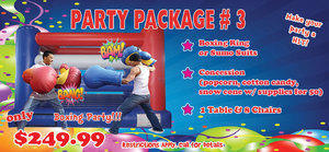 BT-Party Package 03BR-CC - 13' Boxing Ring & Cotton Candy, 1 Tables, 8 Chairs