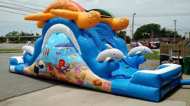 BT - Double Lane Sea Splash Slide - WET