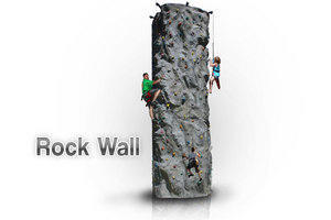 BT-SPO-RW18 - 18' Extreme 2 Person Rock wall Fully Staffed
