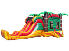 <b><font color=blue><b>Tropical Fiesta Combo w/Dry or Wet Slide</font><br><small>Best for ages 4+<br> <font color=red>Space Needed 15 W x 30 D x 16 H</font></b></small>