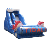 <b><font color=blue><b>20 ft. The Tidal Wave Single Lane W/Landing Pad</font><br><small>Best for ages 4+<br> <font color=red>Space Needed 45 W x 25 D x 20 H</font></b></small>