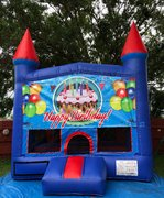 Boys Happy Birthday Bounce House