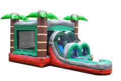 <b><font color=blue><b>Red Marble Tropical Combo w/Dry or Wet Slide</font><br><small>Best for ages 4+<br> <font color=red>Space Needed 15 W x 22 D x 16 H</font></b></small>