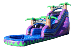 <b><font color=blue><b>22 ft. Purple Crush Single Lane W/Pool</font><br><small>Best for ages 4+<br> <font color=red>Space Needed 45 W x 25 D x 22 H</font></b></small>