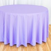 "Lavender Round Table Cloth 120"" - (60"" Round Tables)"
