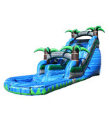 <b><font color=blue><b>22 ft. Blue Crush Single Lane W/Pool</font><br><small>Best for ages 4+<br> <font color=red>Space Needed 45 W x 25 D x 22 H</font></b></small>