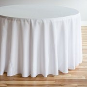 "White Round Table Cloth 120"" - (60"" Round Tables)"