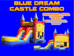 Blue Dream Castle Combo With Water Slide