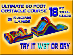 Ultimate 60 Foot Obstacle Course WET!