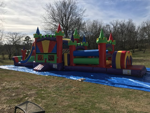 49FT Rainbow Rapid Obstacle Course - Dry