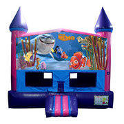 Finding Nemo Bounce House (Pink) with Basketball Goal