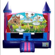 Ballerina Bounce House (Pink) with Basketball Goal