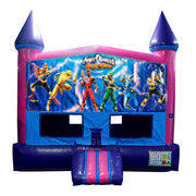 Power Rangers Bounce House (Pink) with Basketball Goal