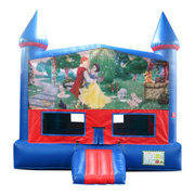 Snow White Bounce House with Basketball Goal