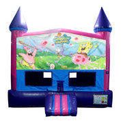 Spongbob  Bounce House (Pink) with Basketball Goal