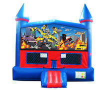 Transformers Bounce House with Basketball Goal