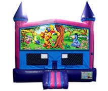 Winnie the Pooh Bounce House (Pink) with Basketball Goal