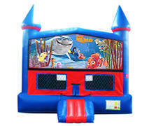 Finding Nemo Bounce House with Basketball Goal