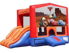 4-in-1 Combo with Double Slides - Cars (Dry)