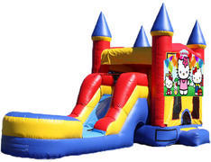 5-in-1 Castle Combo with Slide - Hello Kitty (Dry)