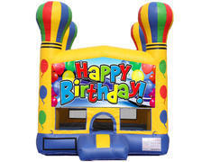 Balloon Bounce House - Happy Birthday
