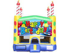 Candle Bounce House - Happy Birthday