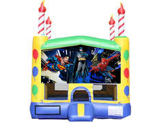 Candle Bounce House - Superheroes