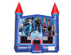 Blue & Red Castle Bounce House - Frozen