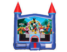 Blue & Red Castle Bounce House - Mickey & Friends