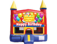Red & Yellow Castle Bounce House - Birthday Cake
