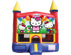 Red & Yellow Castle Bounce House - Hello Kitty