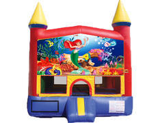 Red & Yellow Castle Bounce House - Little Mermaid
