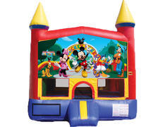 Red & Yellow Castle Bounce House - Mickey & Friends