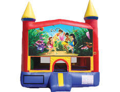 Red & Yellow Castle Bounce House - Tinker Bell