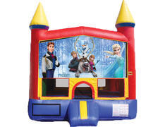 Red & Yellow Castle Bounce House - Frozen 2