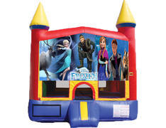 Red & Yellow Castle Bounce House - Frozen