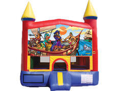Red & Yellow Castle Bounce House - Pirates
